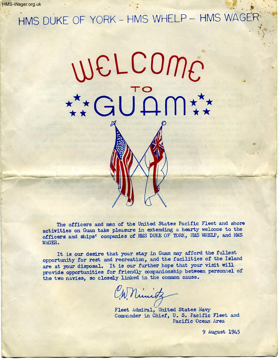 Welcome to Guam leaflet